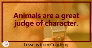 Animals are the best judge of character | Laura Hess | PUSH the Envelope Lessons from Coaching
